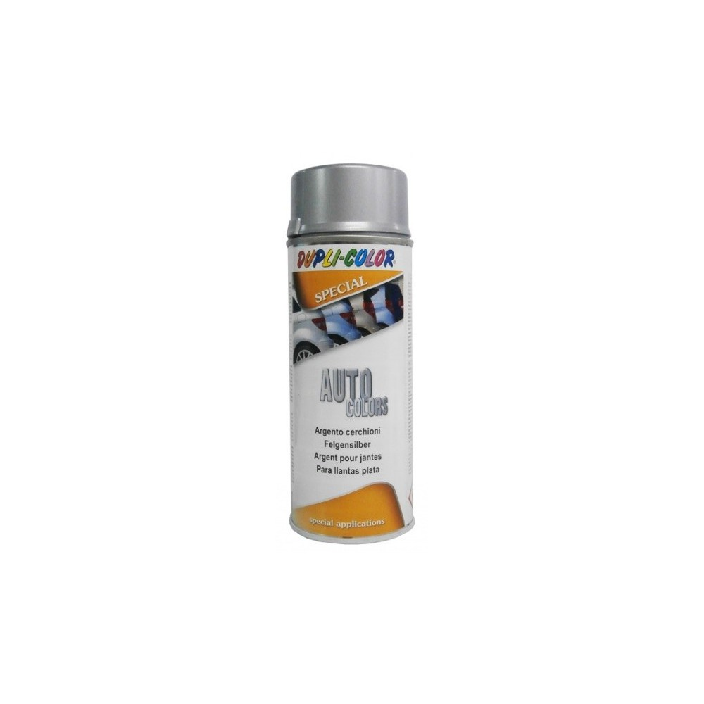 Pintura para llantas plata spray 400 ml.