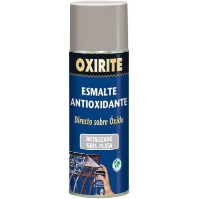 Esmalte antioxidante Oxirite gris plata spray 400 ml.