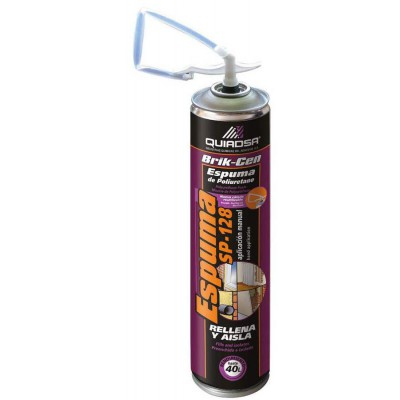 Espuma poliuretano spray manual 750 ml.