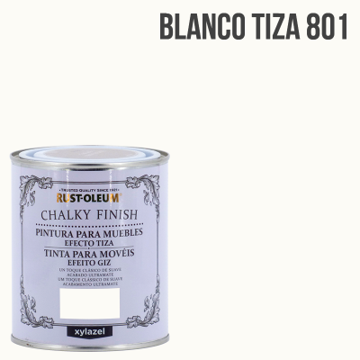 Pintura a la tiza Chalk finish blanco tiza 750 ml.
